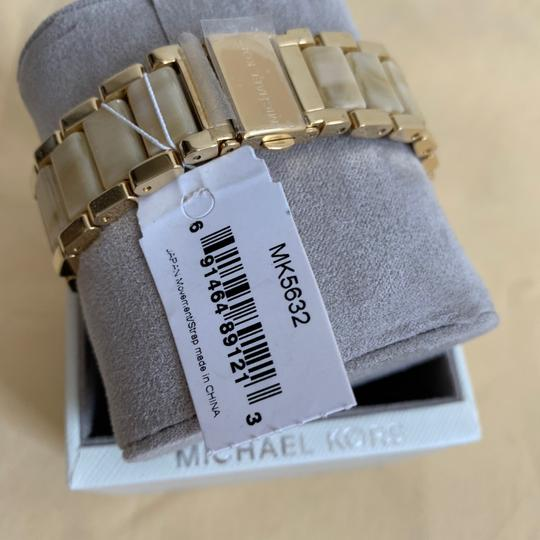 Michael Kors NWT Chronograph Parker Horn Acetate and Gold-Tone Watch MK5632 Image 8