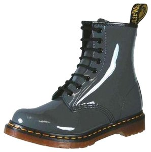 Dr. Martens Grunge Edgy Leather Gray Boots