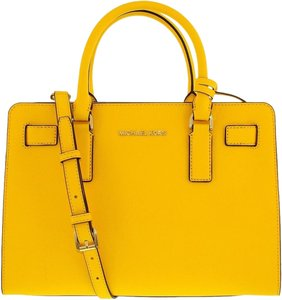 Michael Kors Top Zip East West Satchel in Sunflower Yellow