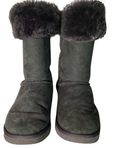 Australia Luxe Collective Sheepskin Fur Midcalf Olive Green with Gunmetal Gray Liningo Boots