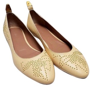 Chloé Primrose Yellow Nappa Leather Bamby Dots Flats