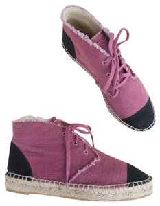 Chanel Espadrille High Top 6.5 Pink Flats