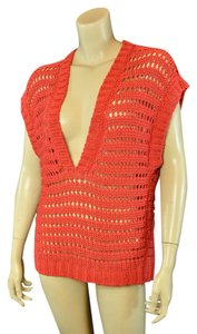 United Colors of Benetton Crochet V-neck Bohemian Sweater