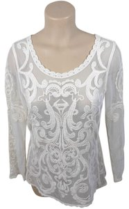 Express Lace Top ivory