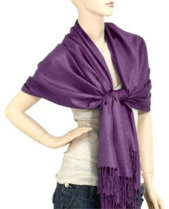 Pashmina Silk Scarf Wrap Shawl Indigo Purple