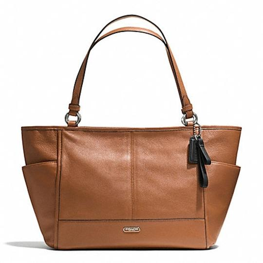 Coach Hobo 37081 29898 Park Carrie Satchel in Saddle / Silver tone