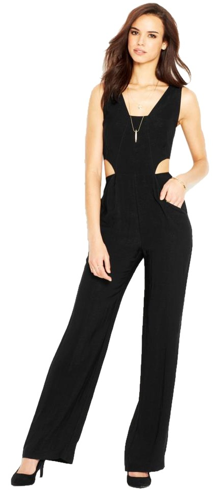 ba01d6baa14 Rachel Roy Black Cut-out Romper Jumpsuit - Tradesy