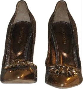 Sergio Rossi Bronze/Gold Pumps
