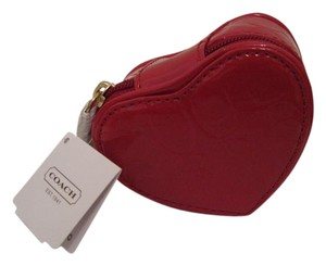 Coach Coach Jewelry Heart Shaped Embossed Liquid Gloss Red Case