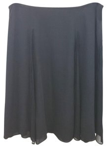 Beth Bowley Anthropologie Black Silk Skirt