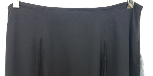 Beth Bowley Anthropologie Black Silk Skirt Image 1
