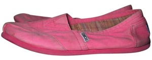 TOMS Neon Vintage Casual Neon Pink Flats