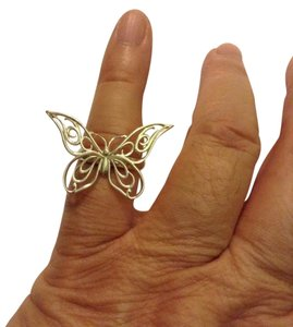 Tiffany & Co. size 6, sterling silver, butterfly, designer ring