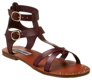 Steve Madden Gladiator Gold Plum Sandals