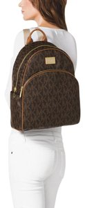 Michael Kors Canvas Leather Mk Monogram Backpack