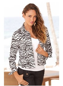 Boston Proper Zebra Jacket