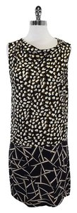 Diane von Furstenberg short dress Black Brown Silk Shift on Tradesy