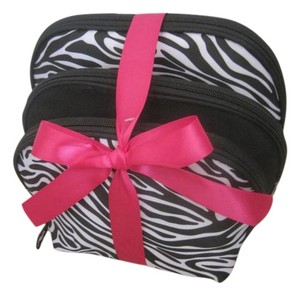 Renewal by Rite Aid 3 piece Cosmetic Bag Set, Renewal by Rite Aid, Black/Zebra Stripes