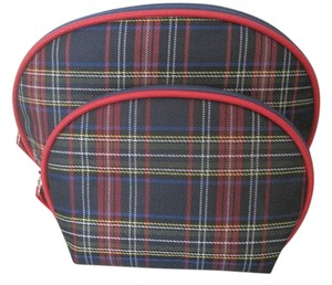 Renewal by Rite Aid 2 piece Cosmetic Bag Set, Renewal by Rite Aid, Blue/Red Plaid