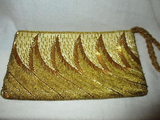 Other Wristlet Beaded Silk gold Clutch Image 1