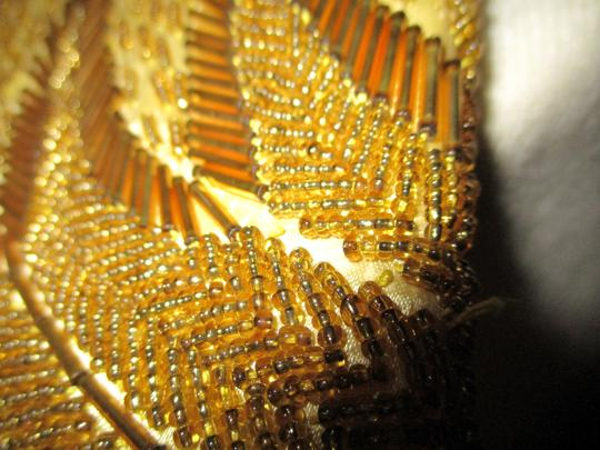Other Wristlet Beaded Silk gold Clutch Image 10
