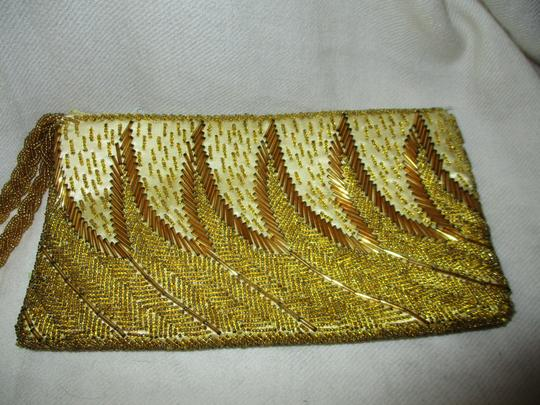Other Wristlet Beaded Silk gold Clutch Image 2
