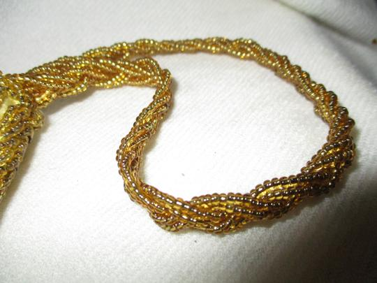 Other Wristlet Beaded Silk gold Clutch Image 4