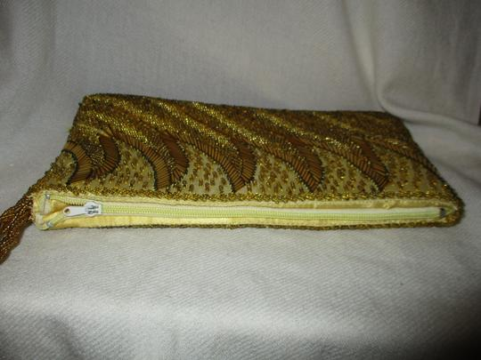 Other Wristlet Beaded Silk gold Clutch Image 5