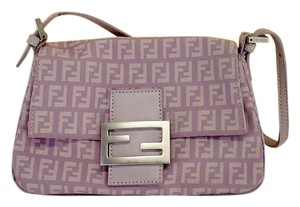 Fendi Purple Monogram Shoulder Bag