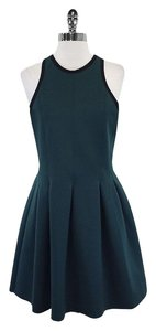 Alexander Wang short dress Green Neoprene Pleated on Tradesy