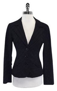 Nanette Lepore Black Cotton Textured Jacket
