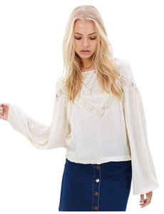 Free People Geometry Lessons Boho Peasant Sz Xs Top