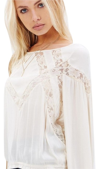 Free People Geometry Lessons Boho Peasant Xs Top Image 8