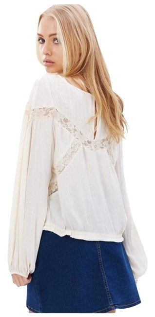Free People Geometry Lessons Boho Peasant Xs Top Image 9
