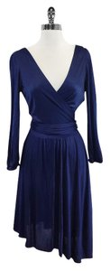 Halston short dress Blue Skater on Tradesy