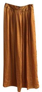 Forever 21 21 Yellow Orange Maxi Skirt Gold