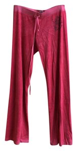Juicy Couture Trousers Velour Juicy Straight Pants Pink