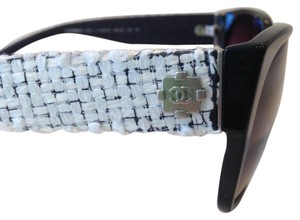 Chanel New Chanel White Tweed 5237 Sunglasses