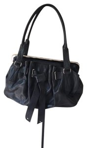 DKNY Clasp Leather Bows Shoulder Bag