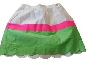 Lilly Pulitzer Skirt White/hot pink/green