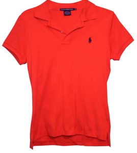 Ralph Lauren Polo Horse Classic Button Down Shirt Orange