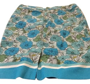 Talbots Skirt Blue multi flowers