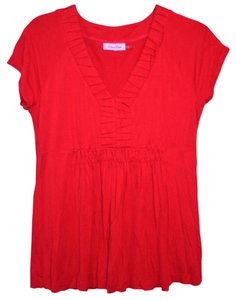 Calvin Klein Comfortable Casual Classic Top Red