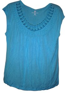 New York & Company Light Airy Blue Turquoise Ny Top Light Turquoise