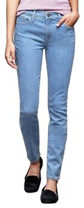 Gap 1969 Denim Cotton Blend Skinny Blue Skinny Jeans-Light Wash
