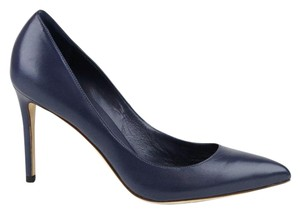 Gucci Leather Pointed Toe Dark Blue Pumps