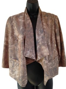 Coldwater Creek Snakeskin brown, gray Jacket