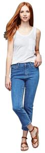 Gap 1969 Cotton Blend Cropped Blue Crop Capri/Cropped Denim-Medium Wash