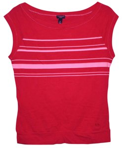American Eagle Outfitters Classic Summer Top Red and White