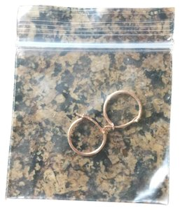 14 Kt solid Rose Gold Jewelry Rose gold solid mini hoops